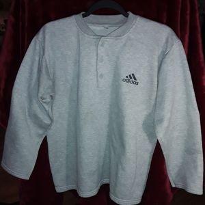 Adidas Button-Up Crewneck Sweater